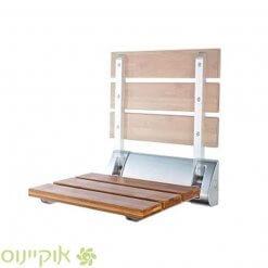 מושב מעץ למקלחת מתקפל ומתקבע לקיר בחנות אוקיינוס