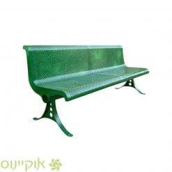 ספסל חוץ מתכת ירוקה של אוקיינוס